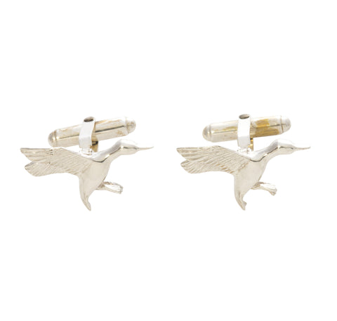 Sterling Silver Duck Cufflinks