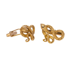 Estate 14K Gold Serpent Cufflinks