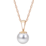 8mm A Akoya Pearl Pendant Necklace