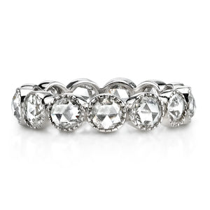 Single Stone Large Gabby Rose-Cut Diamond Platinum Band