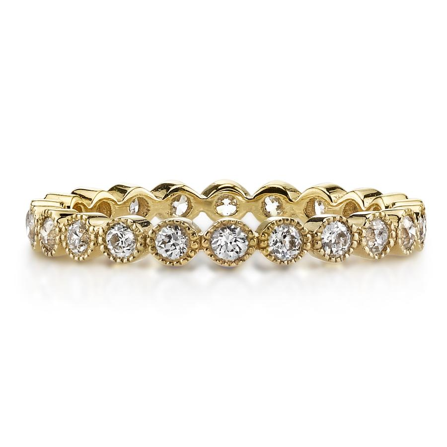Single Stone Mini Gabby Diamond 18K Yellow Gold Band