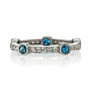 Single Stone Fiona Sapphire & Diamond Band
