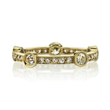 Single Stone Fiona 18K Yellow Gold Band
