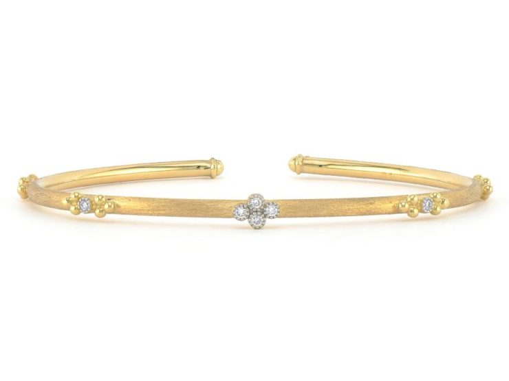 JudeFrances Provence Quad & Trio Flexible Brushed Bangle