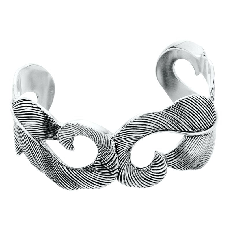 Grainger McKoy Sterling Silver Mallard Feather Cuff