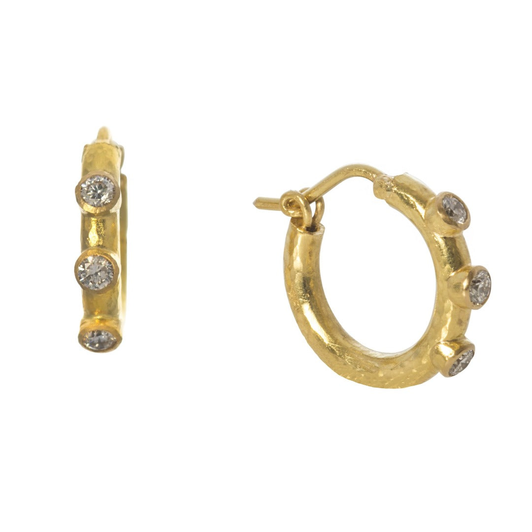 Elizabeth Locke Big Baby Diamond Hoops