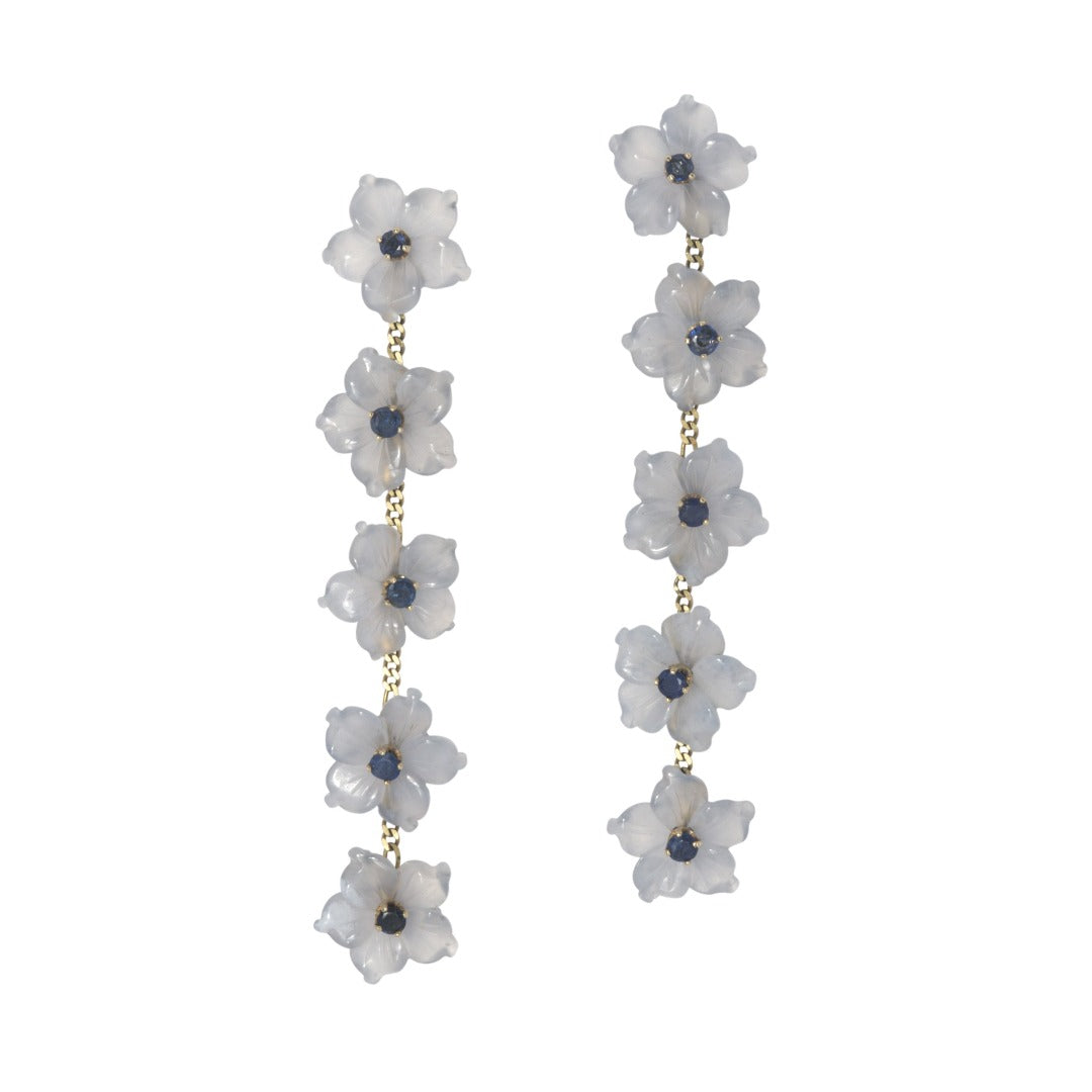 Bullock Building Multi-Flower 5-Drop Earrings