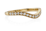 Single Stone Grace Diamond 18K Yellow Gold Band