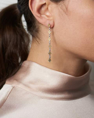 Freida Rothman Fleur Bloom Clover Linear Drop Earrings