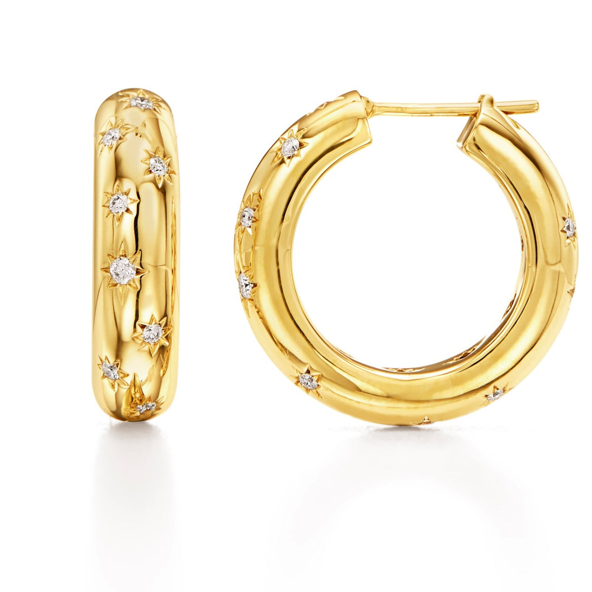 Temple St. Clair Diamond Cosmos Large Hoop Earrings