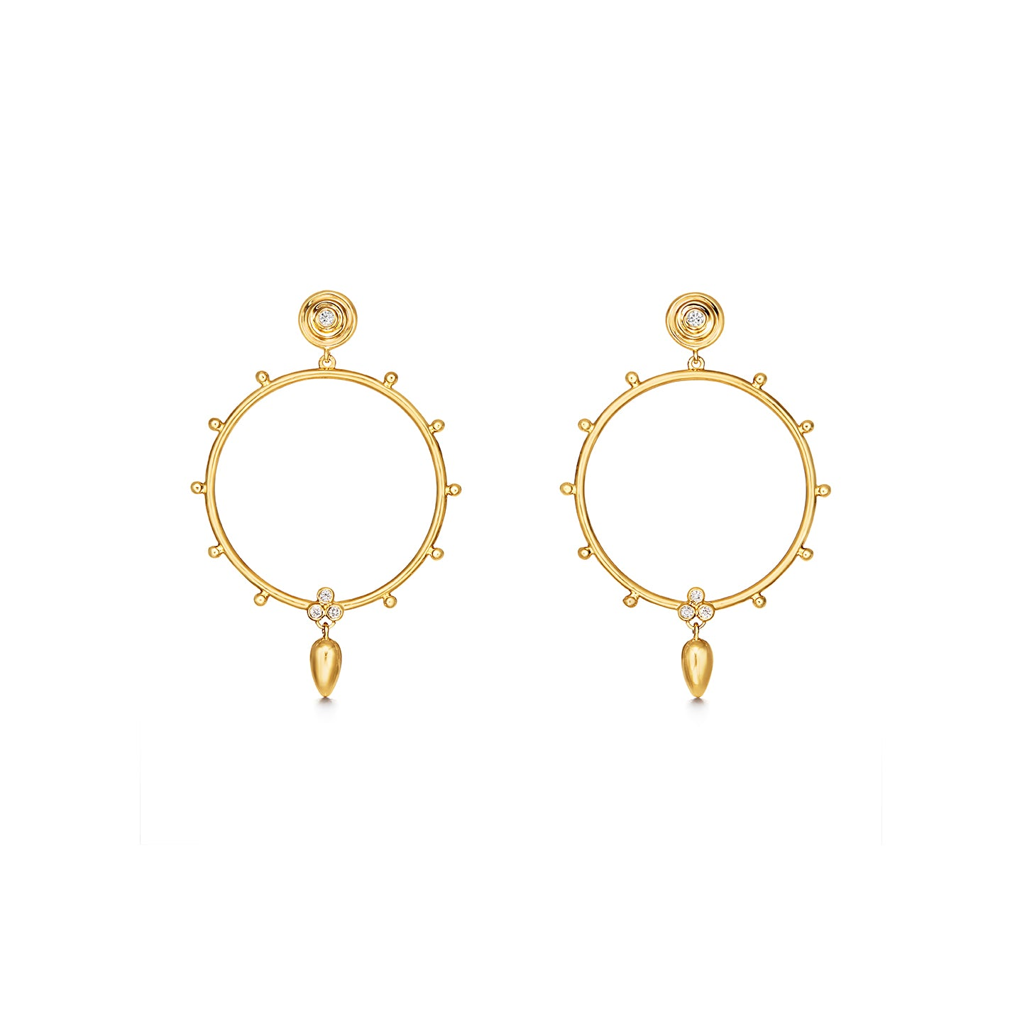 Temple St. Clair Circle Anfora Earrings