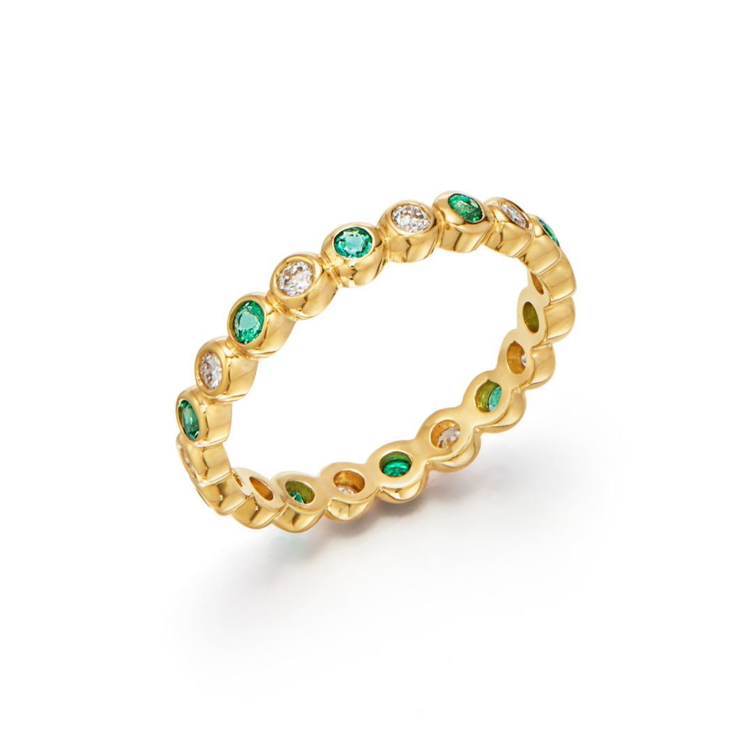 Temple St. Clair Emerald & Diamond Eternity Ring