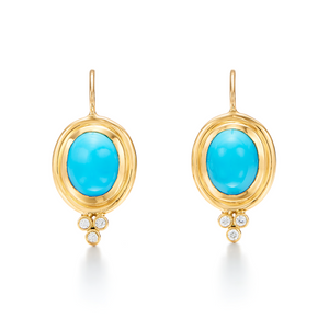 Temple St. Clair Classic Turquoise Earrings