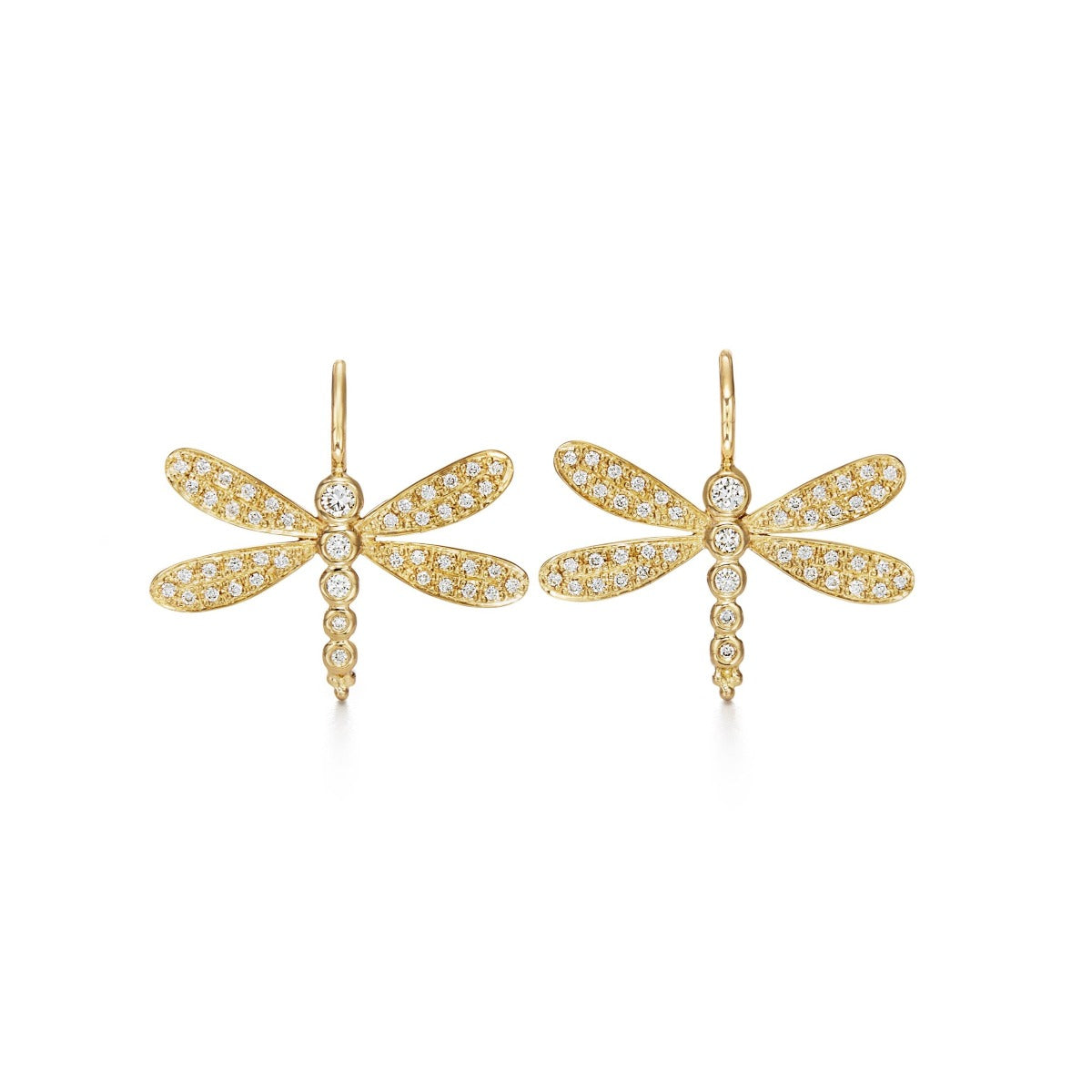 Temple St. Clair Diamond Dragonfly Earrings
