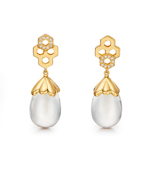 Temple St. Clair Beehive Amulet Drop Earrings
