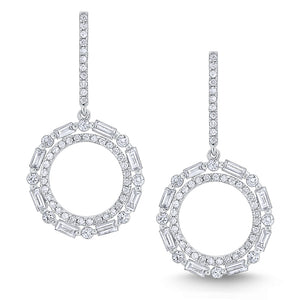 Diamond Metropolis Circle Drop Earrings