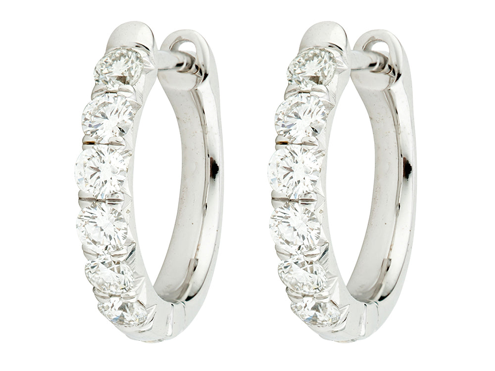 JudeFrances Diamond Pavé Hoop Earrings
