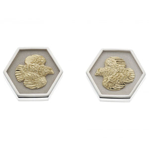 Grainger McKoy Quail Hexagon Earrings