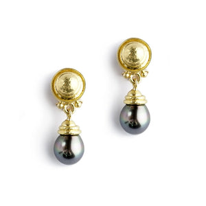 Elizabeth Locke Silver South Sea Pearl Drop Earrings