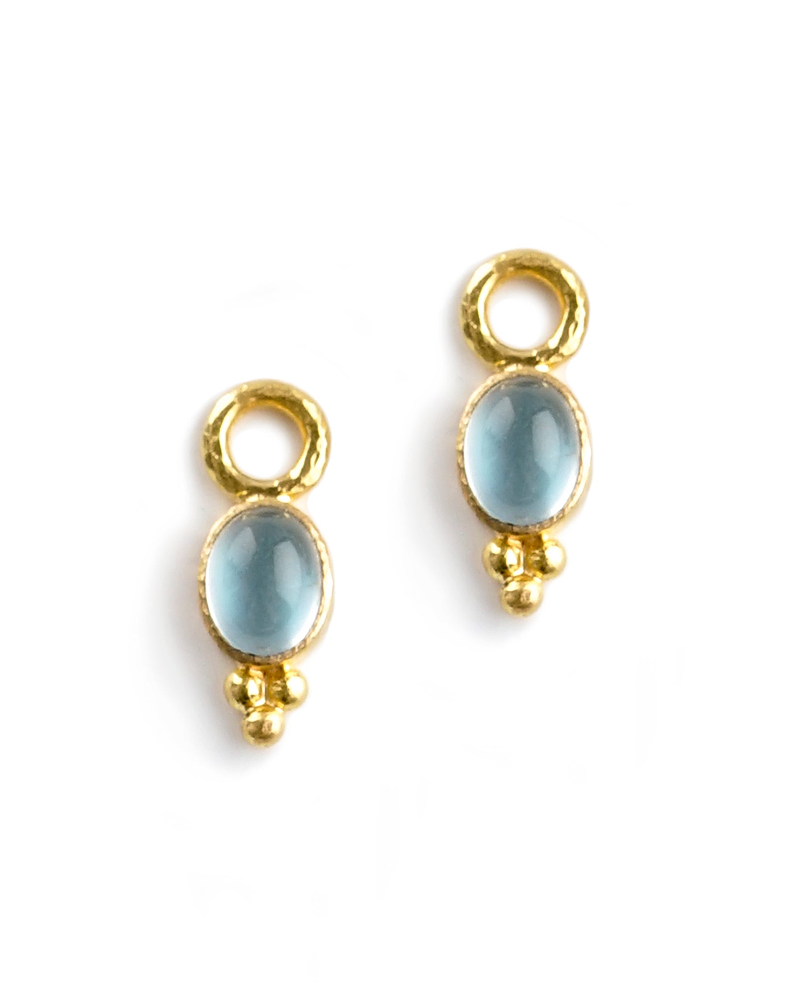 Elizabeth Locke Light Aqua Earring Charms