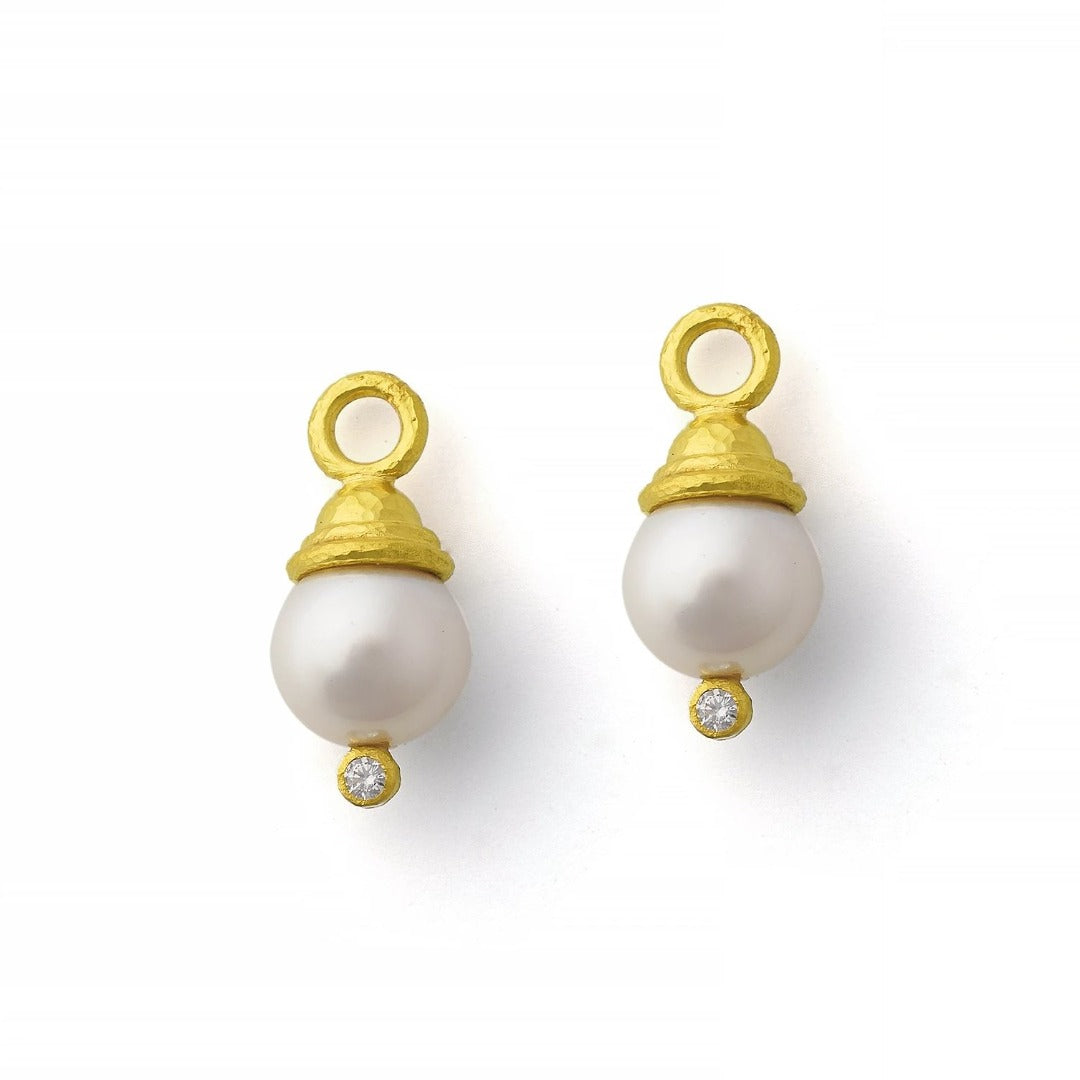 Elizabeth Locke Pearl & Diamond Earring Charms