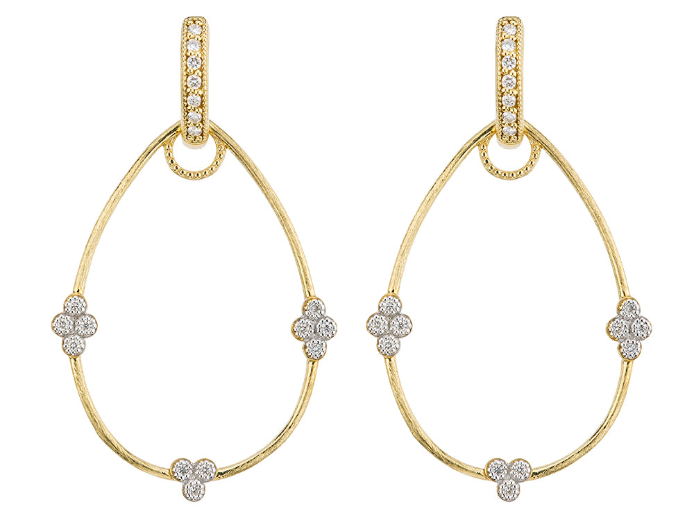 JudeFrances Simple Provence Pear Earring Charm Frames