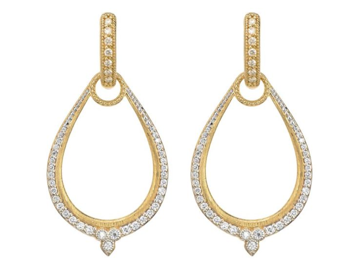 JudeFrances Moroccan Pave Oval Earring Charm Frames