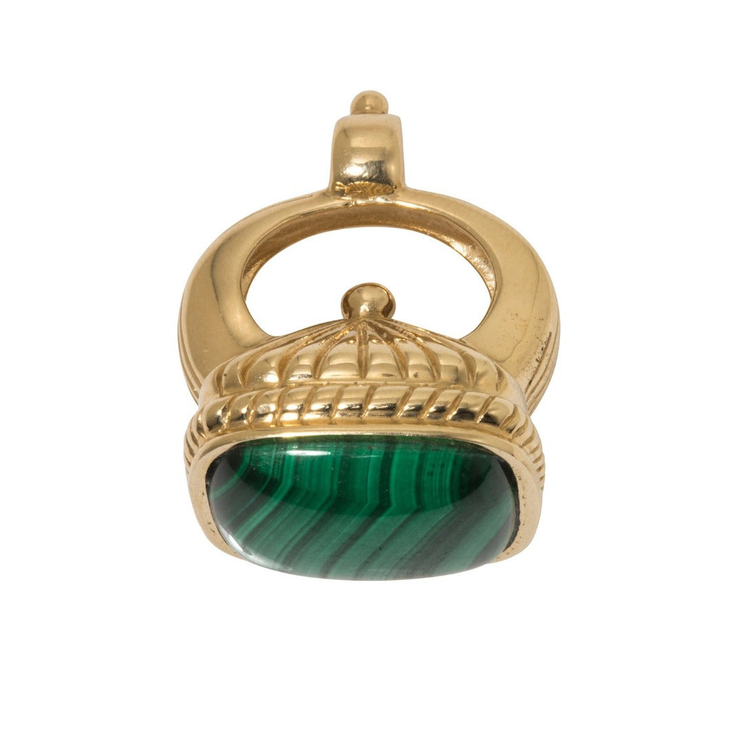 Dudley VanDyke 14K Gold The Regent Fob with Malachite