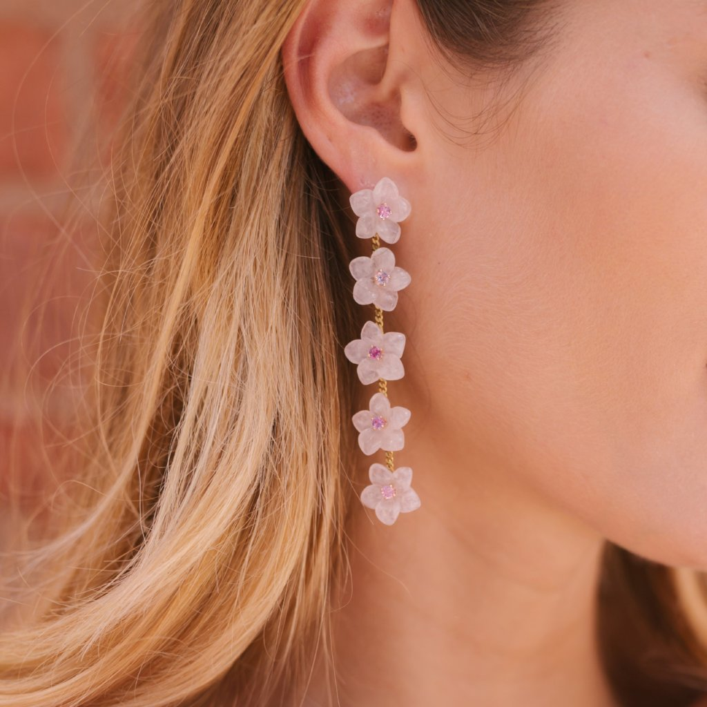 State Street Multi-Flower Drop Earrings