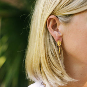 Goldbug Tiny Bug Hoop Earrings