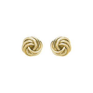 14K Gold 8.5mm Love Knot Stud Earrings