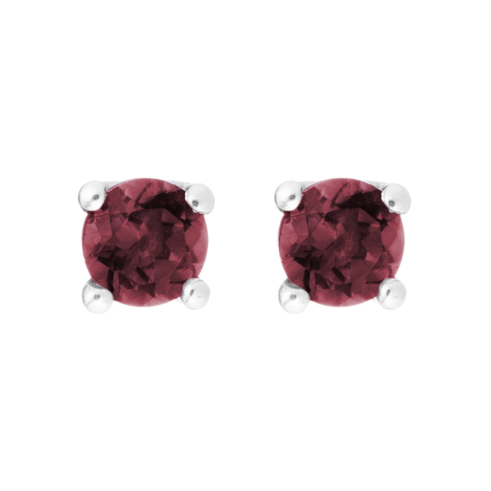 Petite Garnet Stud Earrings