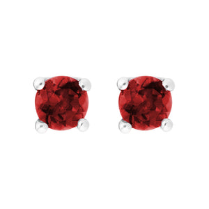 Petite Ruby Stud Earrings