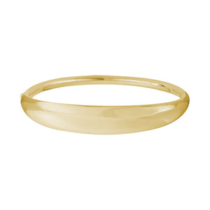 14K Gold Tapered Width Bangle