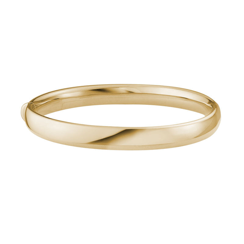 14K Gold 8mm Bangle Bracelet