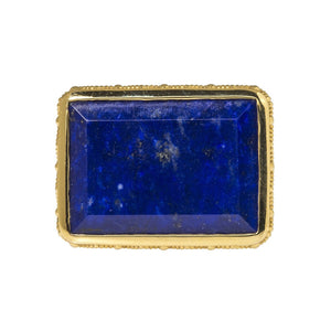 Dudley VanDyke 14K Gold Griffon Fob with Lapis
