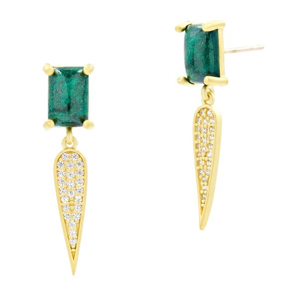 Freida Rothman Harmony Pave Dagger Drop Earrings
