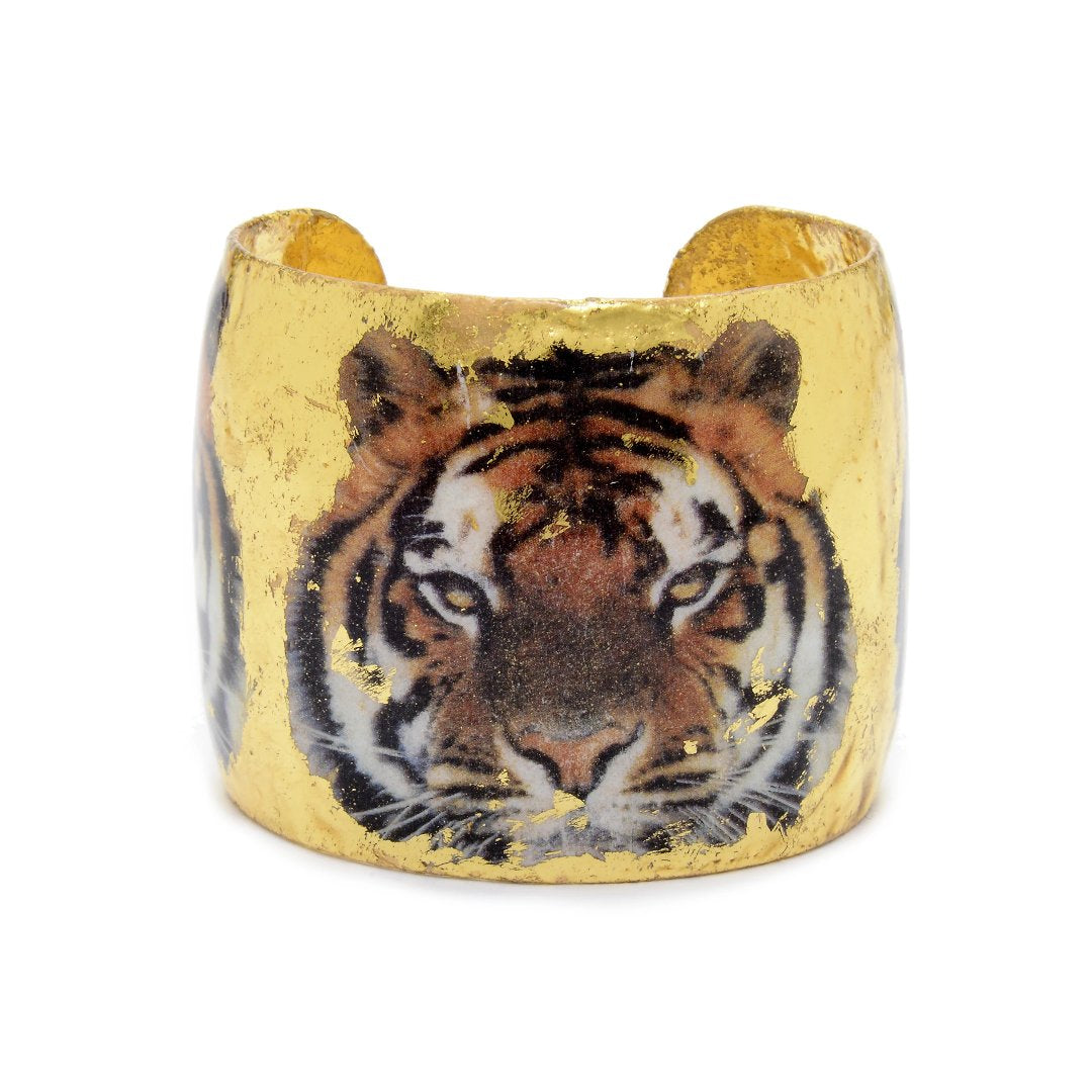 "Bengal Tiger Gold Leaf 1.5"" Cuff"