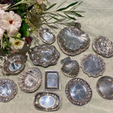 Estate Sterling Silver Round Nut Dish