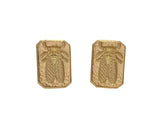 Goldbug Hammered Crest Cufflinks
