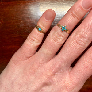 Victorian Turquoise 10K Gold Baby Ring