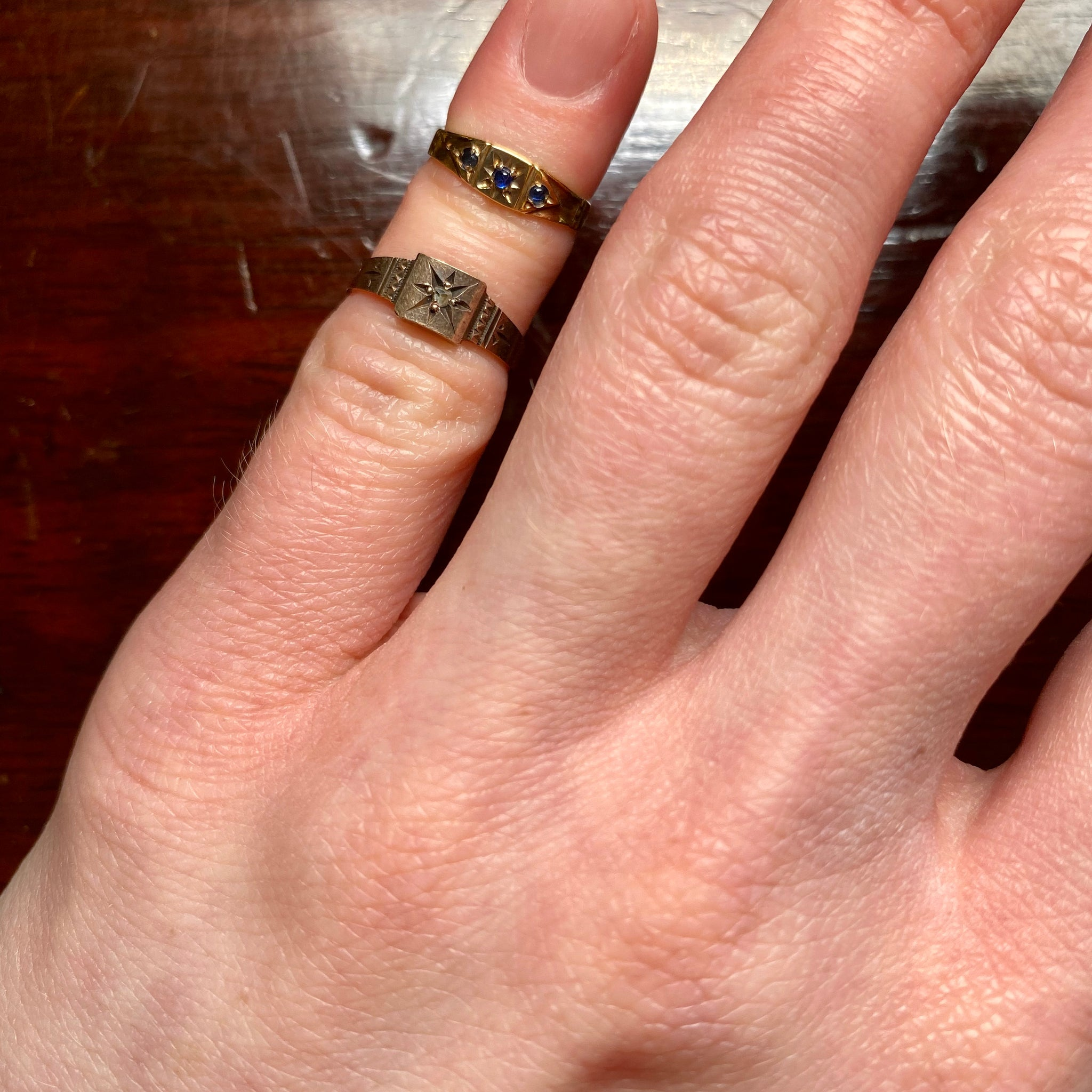 Victorian Paste 10K Gold Baby Ring