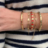 Goldbug Love On Top X & Heart Bracelet