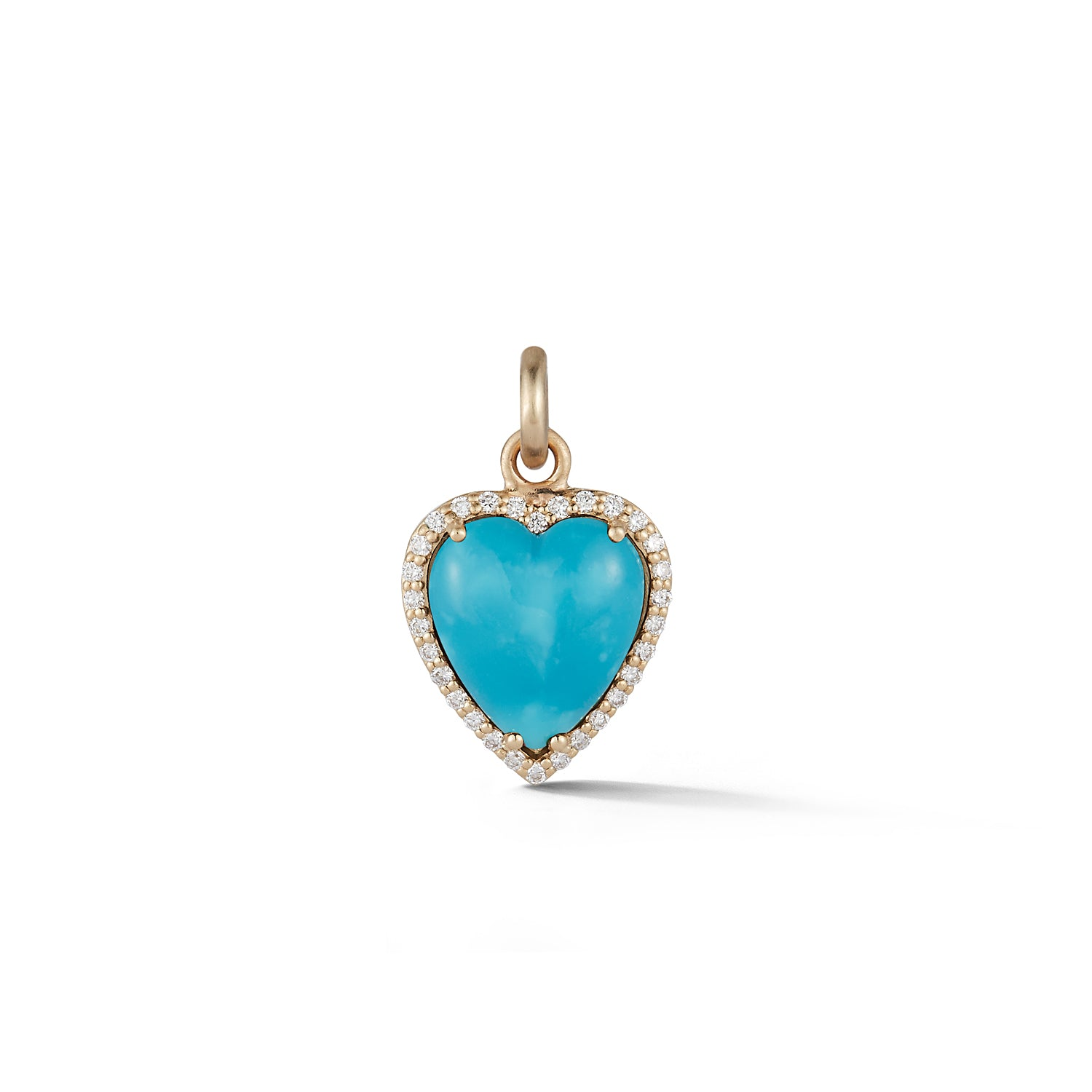 Storrow 14K Gold Diamond & Turquoise Alana Heart Charm
