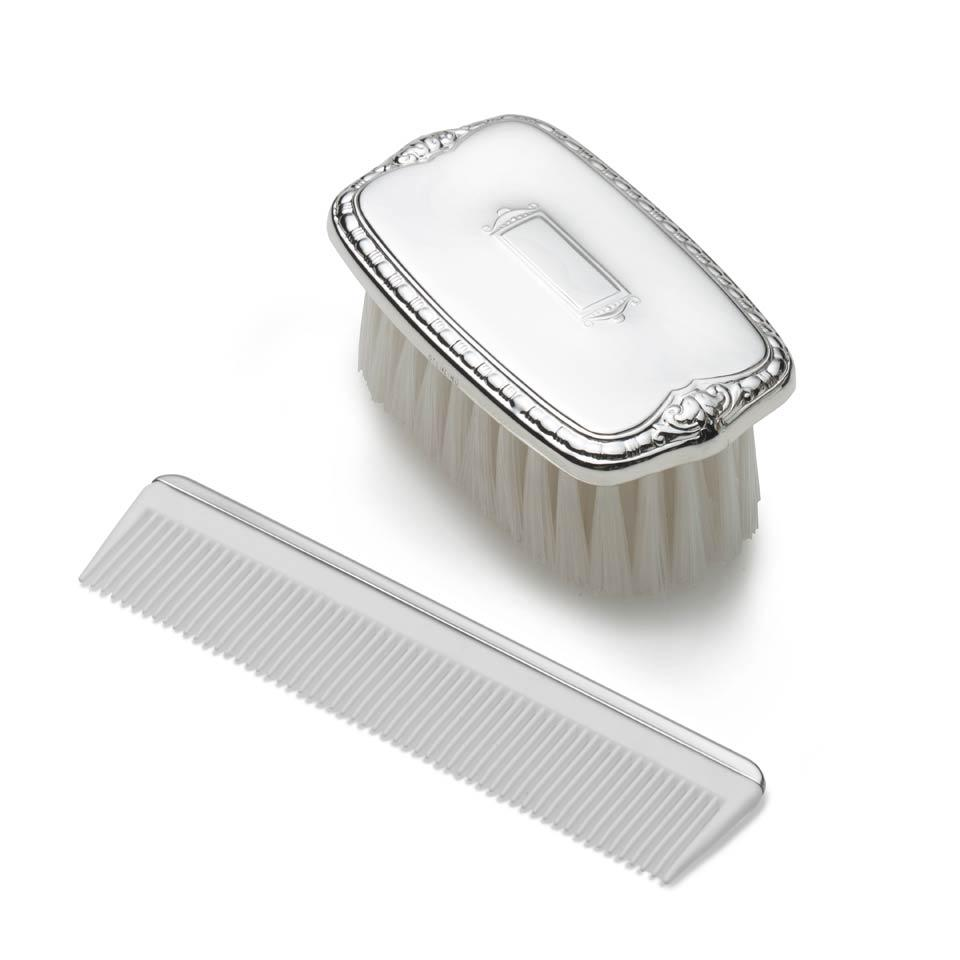 Sterling Silver Baby Boy Brush & Comb Set