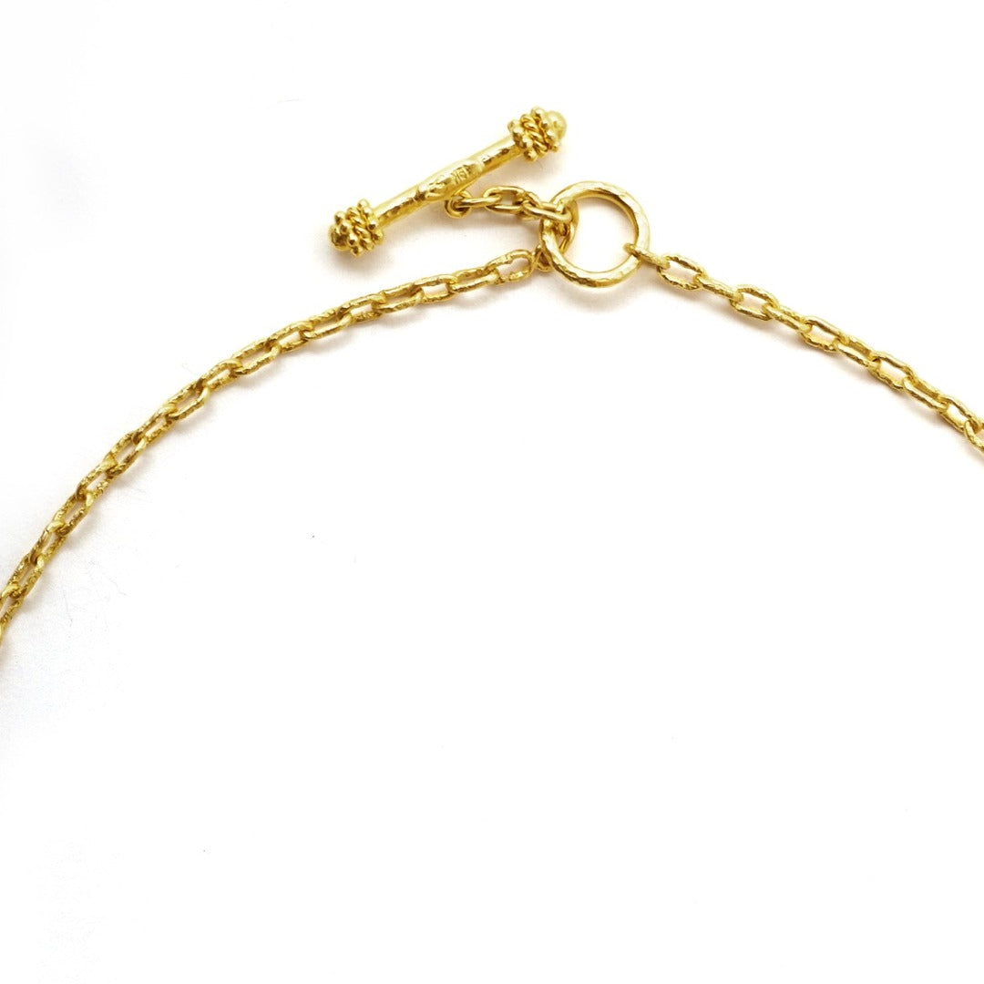 Elizabeth Locke Fine Chain Necklace with Toggle