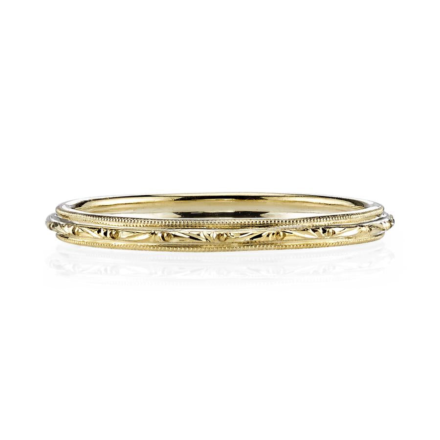 Single Stone Lucy 18K Yellow Gold Band