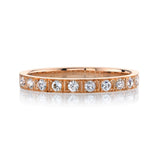Single Stone Hadley 18K Rose Gold Band