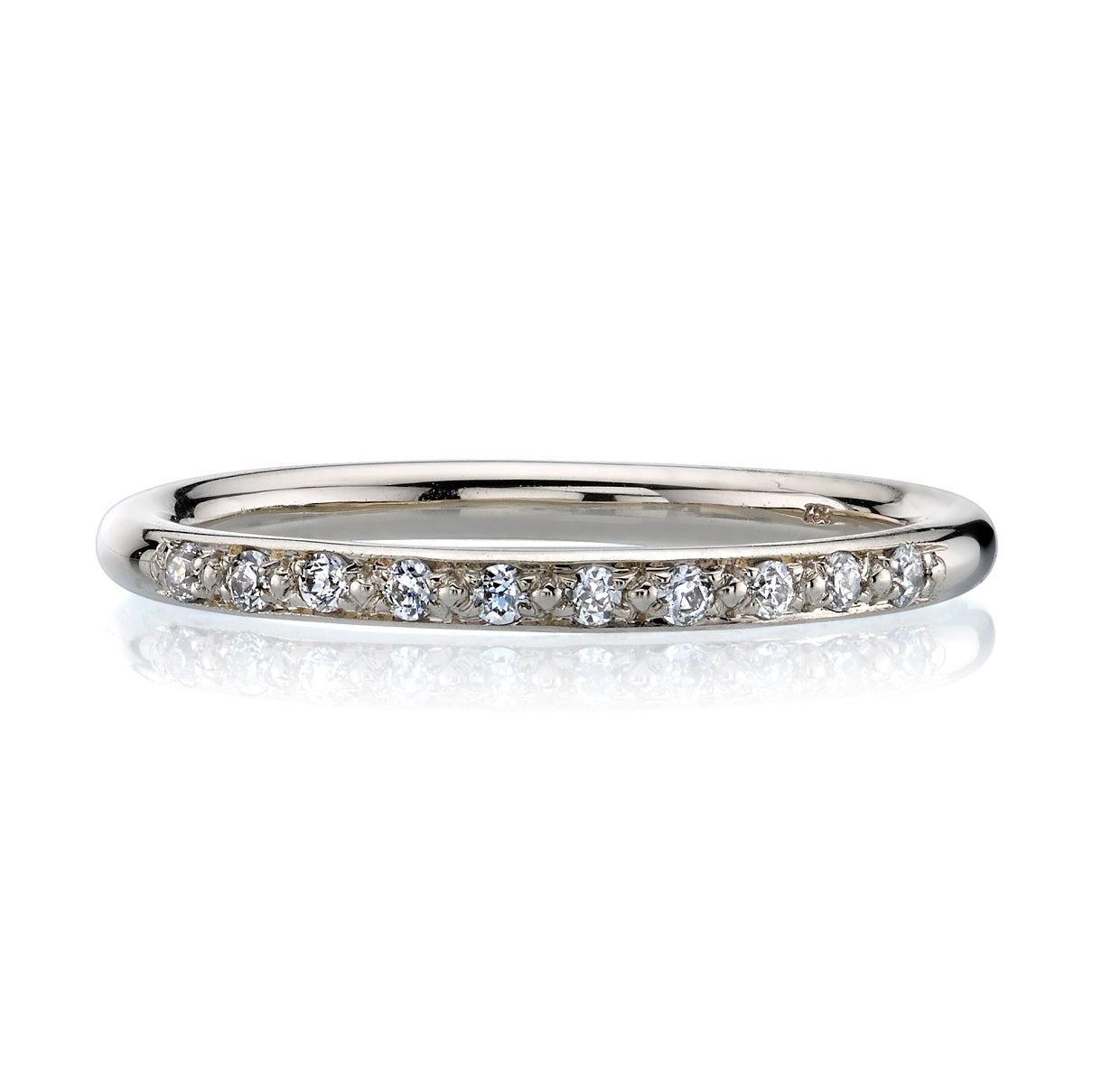 Single Stone Jamie 18K White Gold Band