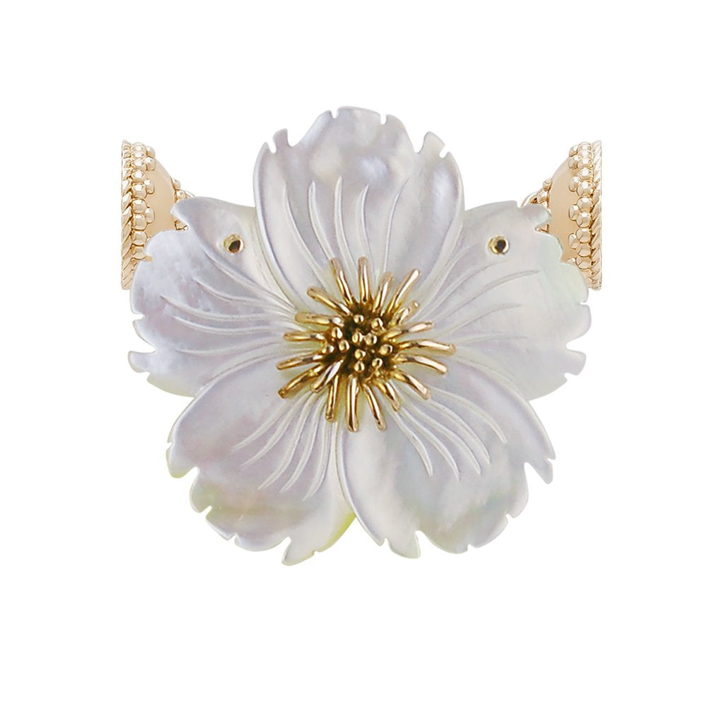 Clara Williams Small White Pearl Wildflower Centerpiece